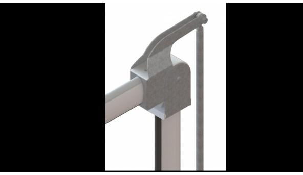 Кронштейн шарнирный для складывания стрелы Roger Technology SND/BA/68/UP