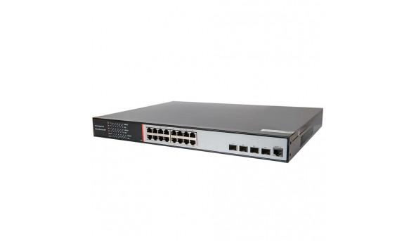 19-портовый управляемый гигабитный POE коммутатор Tecsar TS-1622sfp-m-GB