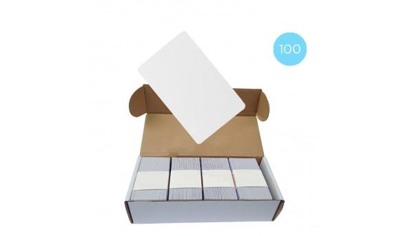 Набор 100 шт. Бесконтактная карта Tecsar Trek Mifare Classic 1K 08 мм белая