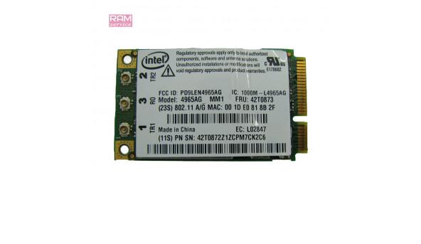 """Адаптер WI-FI, знятий з ноутбука, Lenovo ThinkPad X61 Tablet, 12.1"""", Intel 4965AG, Б/В, В хорошому стані, без пошкоджень"""