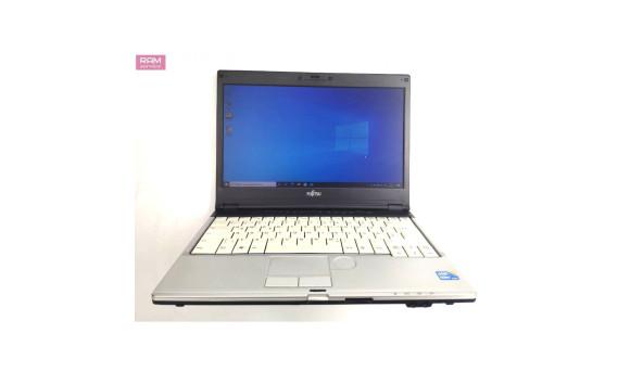 "Компактний ноутбук Fujitsu LifeBook S760, 13.3"", Core I5-520M (2х2.6 GHz), 4 GB RAM, 250 GB HDD, Б/В"