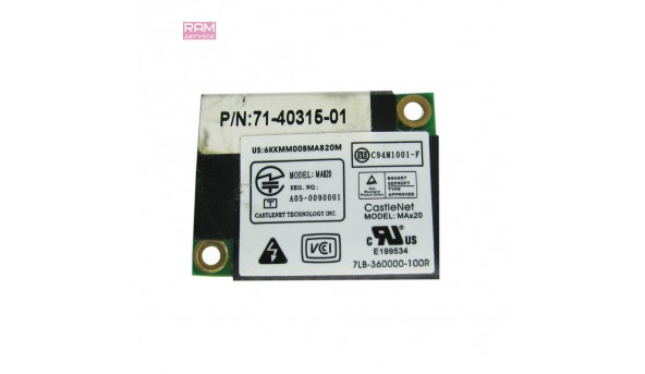 Modem Card, знятий з ноутбука, Fujitsu-Siemens Amilo Pro V2035, CastleNet MA820, Б/В, В хорошому стані, без пошкоджень
