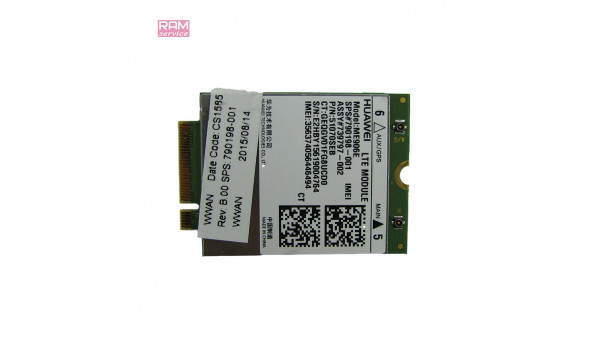 "Адаптер LTE-Modul, знятий з ноутбука, HP EliteBook 840 G1, 14.0"", 790198-001, Huawei ME906e, Б/В, В хорошому стані, без пошкоджень"