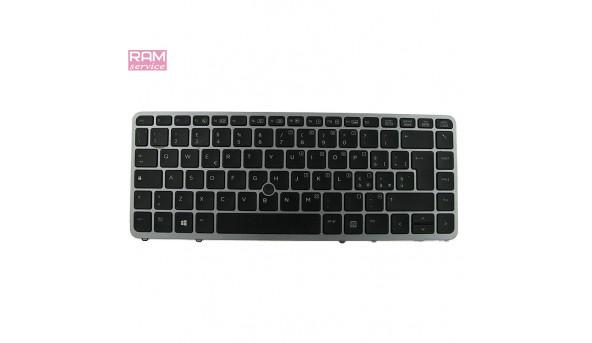 """Клавіатура з підсвіткою для ноутбука, HP EliteBook 840 G1, 14.0"""", 776475-001, Б/В, В хорошому стані, без пошкоджень. Протестована, робоча"""