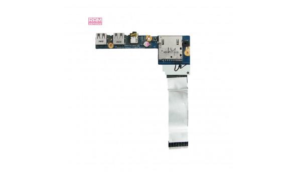 Додаткова плата, роз'єми USB, Audio, Card Reader, для ноутбука, Lenovo IdeaPad S300, S400 S405, LS-8953P, Б/В, В хорошому стані, без пошкоджень