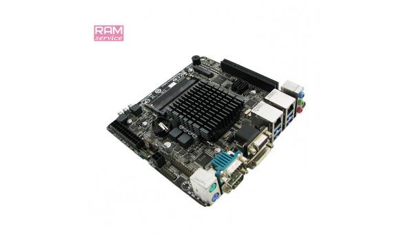 Материнська плата, для ПК, Gigabyte GA-J1900N-D3V, Intel Celeron J1900, SoC, mini-PCI E, Б/В, В ремонті не була. НЕ тестована