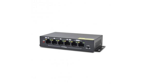 Неуправляемый PoE-коммутатор ATIS PoE-1006-4P Pro с 4 портами PoE 114869