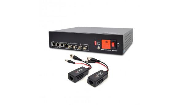 Активный 4-канальный приемник ATIS AL-1204 UHD видеосигнала и питания по UTP 114872