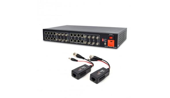 Активный 16-канальный приемник ATIS AL-1216 UHD видеосигнала и питания по UTP