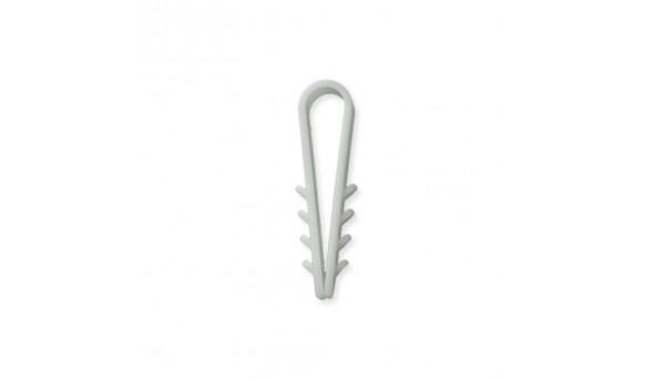 Дюбель-хомут елочка Relfix 6 мм (100 шт/уп) белый