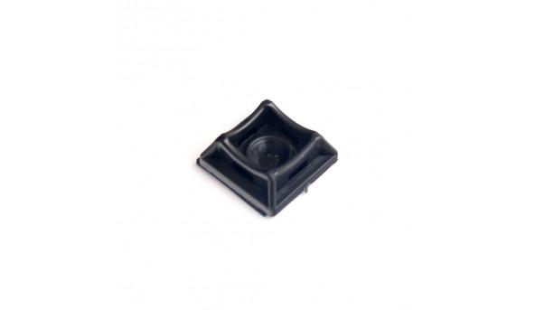 Площадка для стяжки Relfix самоклеящаяся универсальная 20 x 20 мм (50 шт/уп) черная
