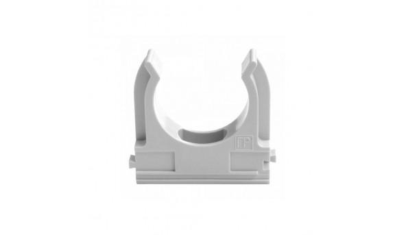 Клипса для гофры 32 мм (50 шт/уп) серая