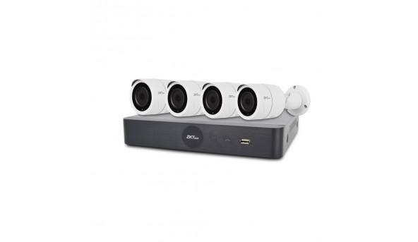 IP комплект видеонаблюдения с 4 камерами ZKTeco KIT-8504NER-4P/4-BS855L11B