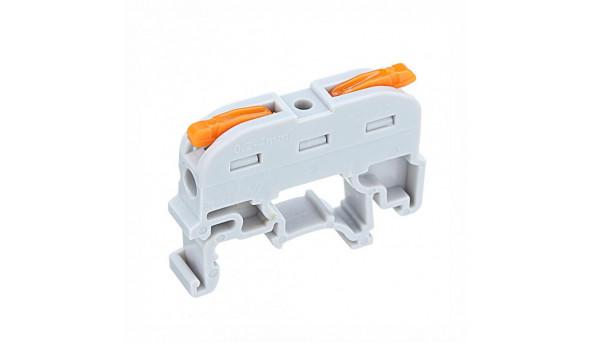 Клемма быстрого монтажа PCT-211 на DIN-рейку с рычагами на 2 провода
