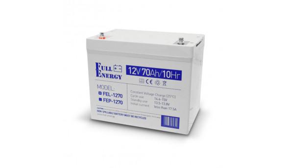Аккумулятор гелевый 12В 70 Ач для ИБП Full Energy FEL-1270