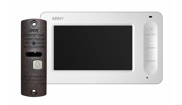 Комплект видеодомофона ARNY AVD-4005 Белый \ Медный