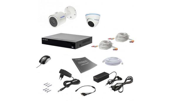 Комплект видеонаблюдения Tecsar AHD 2MIX 2MEGA