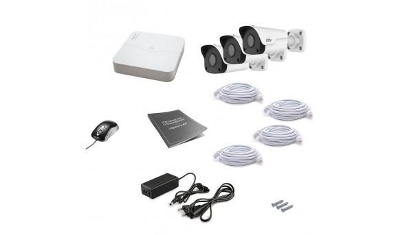 Комплект IP видеонаблюдения Uniview 3OUT 2MEGA