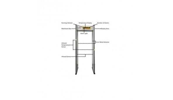 Арочный металлодетектор с измерителем температуры Uniview USS-SC100A-TM-O