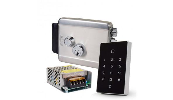 Комплект контроля доступа с кодовой клавиатурой ATIS AK-602B, блоком питания Full Energy BGM-123Pro 12 В / 3 А, электромеханическим замком ATIS Lock SS