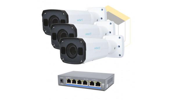 Комплект для управления и контроля доступа автотранспорта на 3 камеры