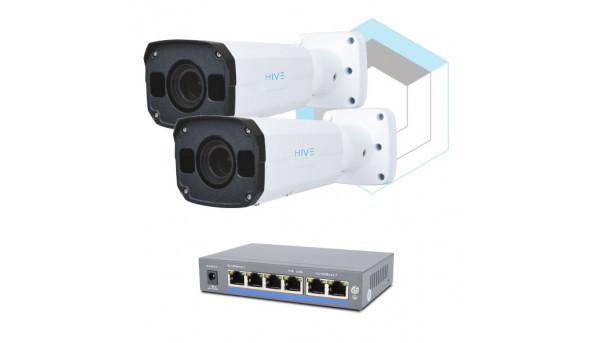 Комплект для управления и контроля доступа автотранспорта 2 на 2 камеры