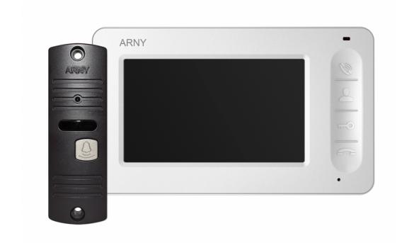 Комплект видеодомофона ARNY AVD-4005 Белый \ Коричневый
