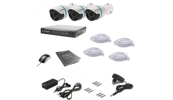 Комплект видеонаблюдения Tecsar IP 3OUT